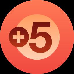徽章:五个关注