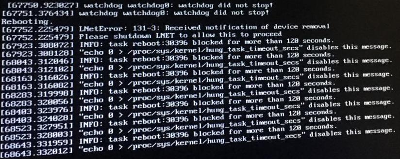 Please shutdown LNET to allow this to proceed
